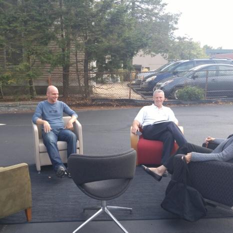 Chair Testers, Steve Dewey, Janis Newell & Rep. Doug Kruse.