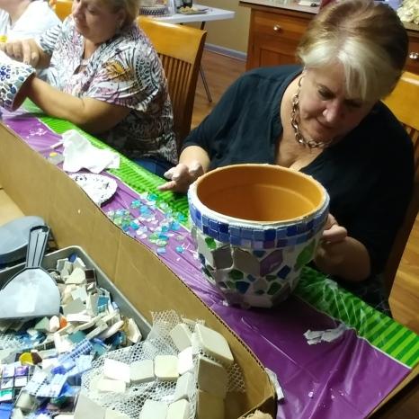 Nancy & Krisie (Sisters) working.